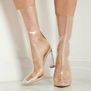 Shoes - Clear Perspex boots